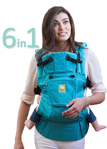 L LL baby The Complete Embossed SIX-Position 360 Ergonomic Baby Child Carrier, Teal – Baby Carrier, Ergonomic Multi-Position Carrying for Infants Babies Toddlers