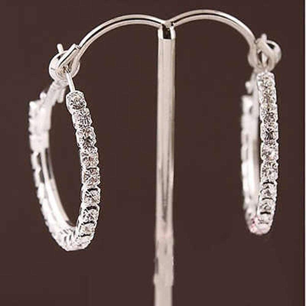 Erin Pendientes De Anillo De Diamantes De Imitación Completos De Moda Pendientes De Círculo Grande Pendientes De Anillo De Cristal para Mujer