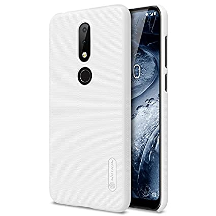 best service 1e153 f0944 Nillkin Case for Nokia 6.1 Plus / X6 X 6 Super Frosted Hard Back Cover Hard  PC White Color