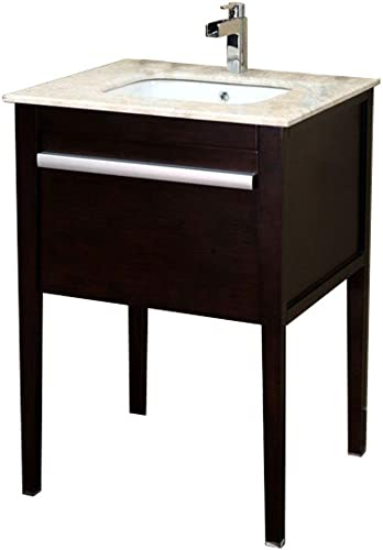 Bellaterra Home 203117 26-Inch Single Sink Vanity, Wood, Dark Mahogany