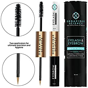 Eyelash And Eyebrow Growth Serum With Anti-Inflammatory Action (10 ml) Enhances Hair Growth for Longer, Thicker, Stronger Lashes and Brows Made From 100% Natural Blend Of Oils And Plant Extracts