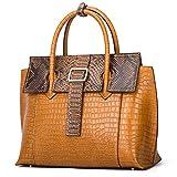 Women Genuine Leather Handbags Luxury Designer Handbags Top-handle Bags Embossed Crocodile Cowhide