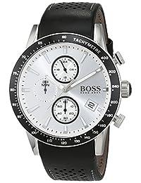 Hugo Boss Men's 1513403 Black Leather Analog Quartz Watch