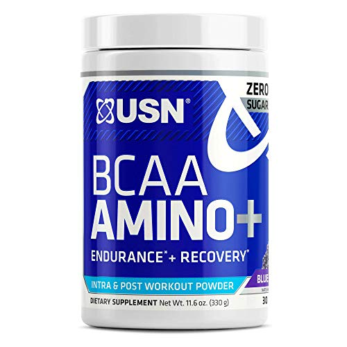 USN Supplements BCAA Amino + Supplement, Blue Raspberry, 11.60 Ounce