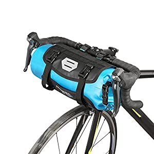 Lixada Bicycle Bag Waterproof Cycling Mountain Road MTB Bike Front Frame Handlebar Pannier Dry Bag with Roll Top Closure 3L 7L Adjustable