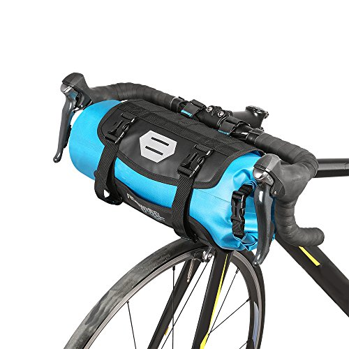 Lixada Bicycle Bag Waterproof Cycling Mountain Road MTB Bike Front Frame Handlebar Pannier Dry Bag with Roll Top Closure 3L 7L Adjustable