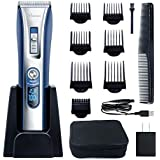 HATTEKER Hair Trimmer Cordless Hair Clippers Beard Trimmer For Men Professional Hair Cutting Kit Shaver USB Rechargeable