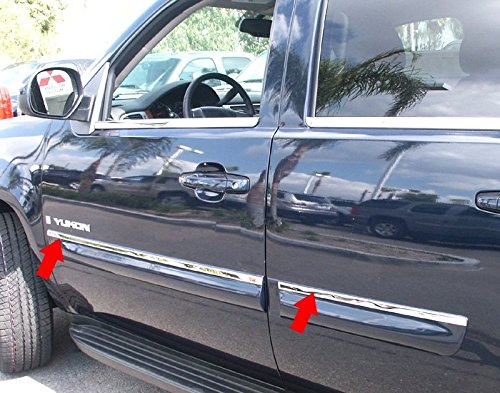 Made in USA! Works with 2007-2009 GMC Yukon Body Side Molding Trim Top 3/4