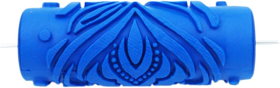 MagiDeal 5  Gaufr/é Peinture Rouleau De Peinture Manchon Mur Pochoir Brosse Fleur Motif D/écor # 16