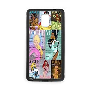 Cool Vogue Princesses Durable TPU Custom Snap On Case For Samsung Galaxy Note4 by mcsharks