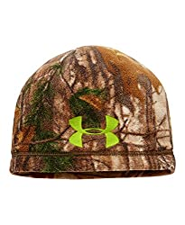 Under Armour Boys' Scent Control ColdGear Infrared Beanie, Realtree Ap-Xtra/Velocity, One Size