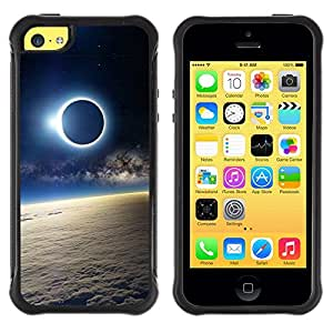 Suave TPU GEL Carcasa Funda Silicona Blando Estuche Caso de protección (para) Apple Iphone 5C / CECELL Phone case / / Moon Sun Eclipse Earth Atmosphere View /