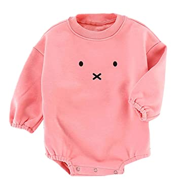 69e94b28b0df Amazon.com  Cute Cartoon Rabbit Baby Romper Newborn Baby Boys Gir ...