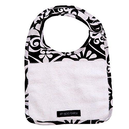 Ah Goo Baby Bib, 100% Cotton Terry Cloth, Wrap Around Collar, Magnetic Closure, Audrey Pattern