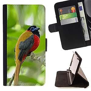 - tropical songbird jungle woods green - - Prima caja de la PU billetera de cuero con ranuras para tarjetas, efectivo desmontable correa para l Funny HouseFOR Sony Xperia Z1 L39