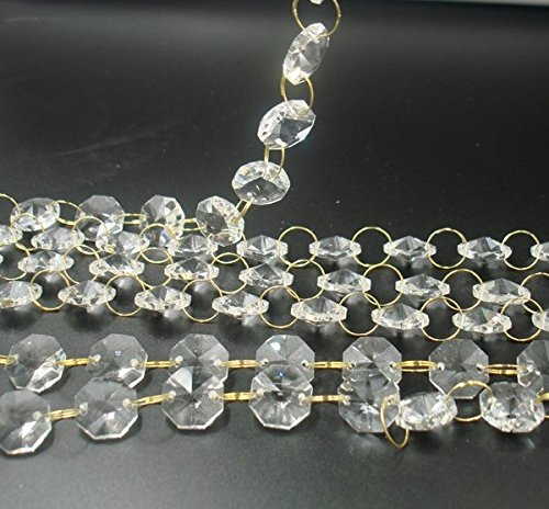 Clear Crystal Prisms Strands/Garland/Chains for Wedding Centerpieces Wishing Tree Garland and Christmas Decoration,All Other DIY Craft Projects (1/2