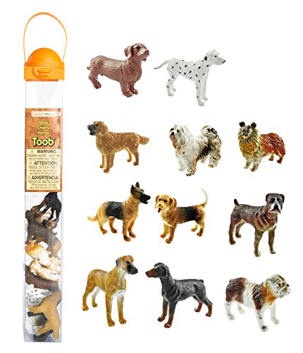 Safari Miniature - Safari Ltd Dogs TOOB With 11 Hand Painted Toy Figurines Including A Dachshund, Dalmatian, Retriever, Sheepdog, Collie, Shepherd, Beagle, Boxer, Great Dane, Doberman, And Bulldog  For Ages 3 And Up