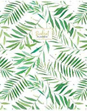 Budget Planner: Weekly and Monthly Financial Organizer | Savings - Bills - Debt Trackers | Tropical Palm Leaves