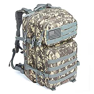 653d0258dc Amazon.com   MEWAY 42L Military Tactical Backpack Large Assault Pack ...