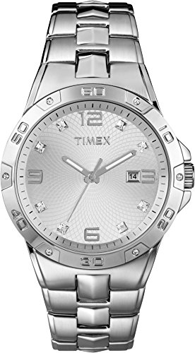 Elevated-by-Timex-Mens-Silver-Tone-Case-Stainless-Steel-Bracelet-T2P270