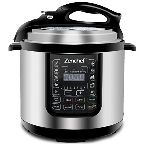 Zenchef 14-in-1 6 Quart Multifunctional Stainless Steel Elec
