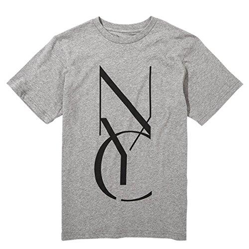 (サタデーズサーフ ニューヨーク) Saturdays Surf NYC Tシャツ Stencil Printed コットン メンズ S グレー [並行輸入品]