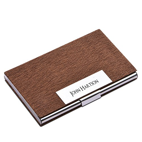 (Personalize Free Custom Engraving Credit Card Business Card Holder Card Case (coffee))