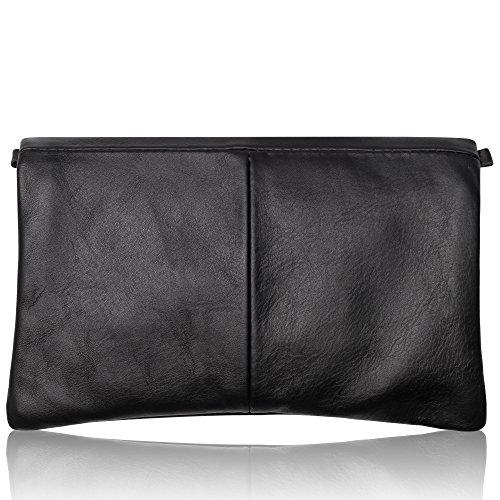 S Color Slingbag Cuero Negro De Bolso Colores Calidad Selección Talla Gran Gris Mano wwCP1f