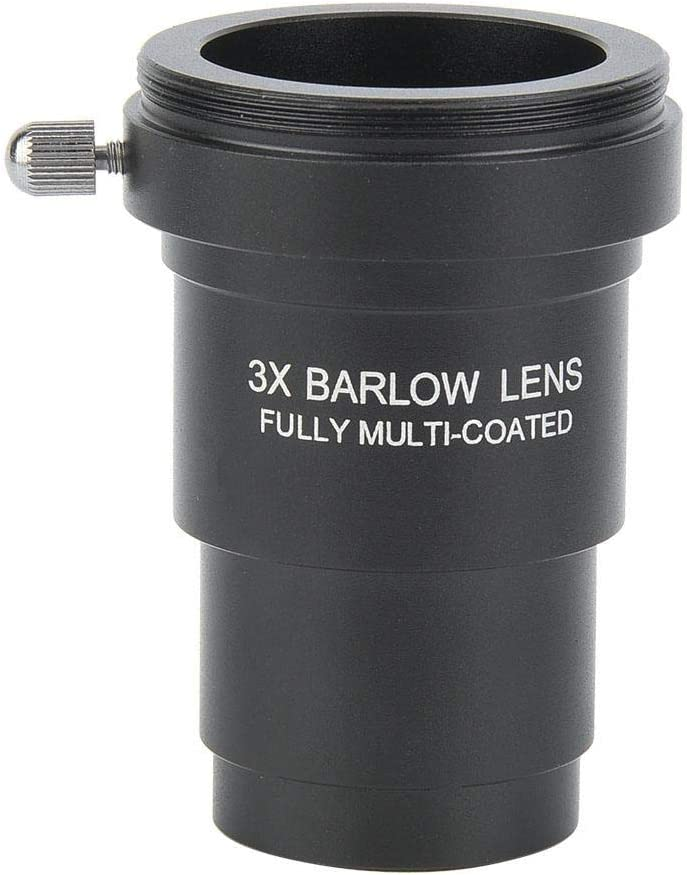 Yoidesu 1.25-Inch 3X Barlow Lens,Fully Multi-Coated Metal Barlow Lens with M42x0.75mm Thread for 1.25 Inch Astronomical Telescope Eyepieces