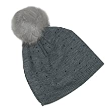 CTM® Women's Sparkle Beanie with Pom
