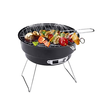 YIHGJJYP BBQ Grill, Portable Charcoal Barbeque Mini Indoor Outdoor Tabletop Charcoal Grills for Camping, Picnics, Backyards: Home & Kitchen