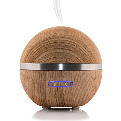 Simply Diffusers Fan Favorite Wood Like Finish Aromatherapy Essential Oil Diffuser and Ultrasonic Humidifier. 200ML Water Capacity, Long Running with Auto-Shut Off, Constant on or Timed Diffusion
