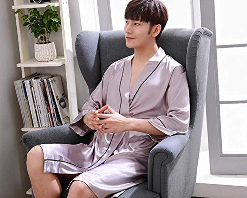 Accogliente Da Accappatoio Vestaglia Fashion Saoye Purple Leggero Uomo Cami UYSz6w