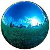 Lily's Home Glass Gazing Ball Mirror Ball Garden Ball in Blue - 10 Inch