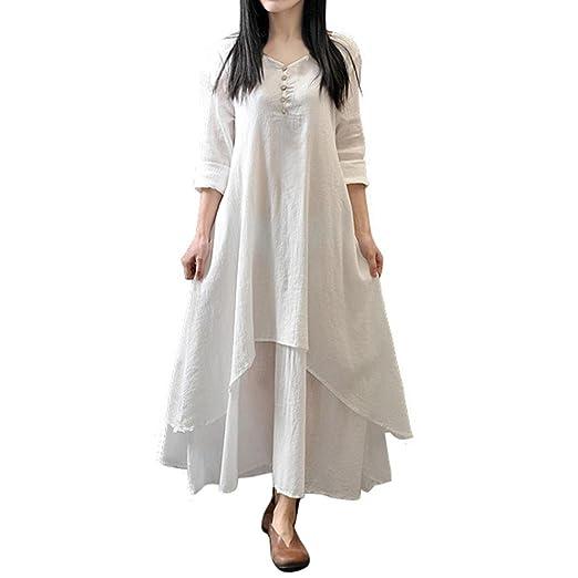 3c47842de18 ARINLA 2018 Summer Women skirts Cotton Linen Boho Long Dress Party ...