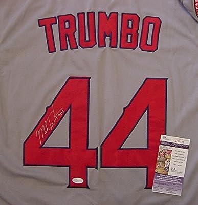 Mark Trumbo Los Angeles Angels Autographed Grey #44 Jersey JSA COA