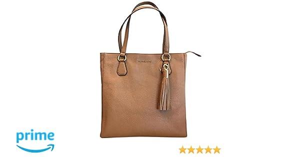 755122e6573f84 Amazon.com: Michael Kors 35S7GBFT2L Bedford Acorn Pebbled Leather Zip Tote  Handbag: Clothing