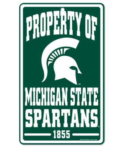 WinCraft NCAA Michigan State University Spartans 7x12 inch Property Sign