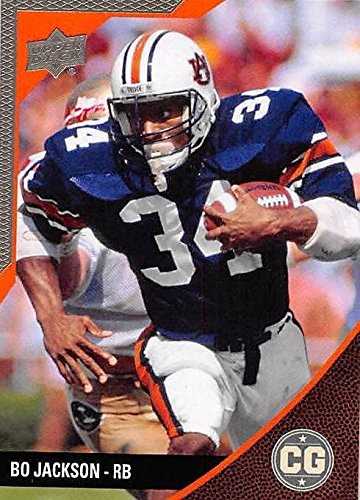 Bo Jackson Football Card (Auburn Tigers) 2014 Upper Deck Conference Greats Pewter #42