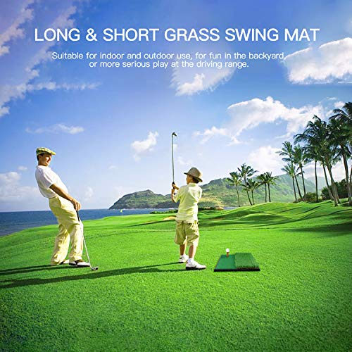 OUTAD Golf Putting Mat Indoor Golf Training Mat Putting Green System Professional Golf Practice Mat Green Long Challenging Putter