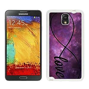 BINGO best quality Infinity Love Galaxy Samsung Galaxy Note 3 Case White Cover