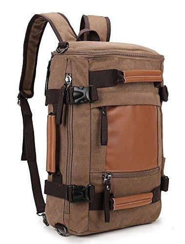 Weekend Shopper canvas Camping Rucksack Vintage Backpack for