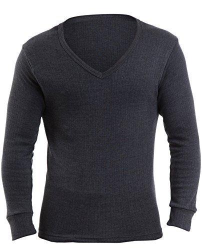 RP Thermals Herren Thermo-Unterwäsche, V-Ausschnitt, langärmig, in verschiedenen Gr., Farbe Weiß oder Demin