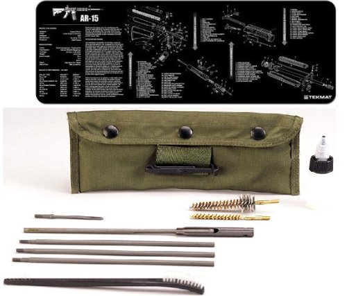 Ultimate Arms Gear Complete AR15 AR-15 AR 15 M4 M16 Rifle Armorer Kit Includes: Gunsmith Cleaning Work Tool Bench Gun Mat + Deluxe .223 5.56 AR15 M-16 Rifle Cleaning Kit from Ultimate Arms Gear