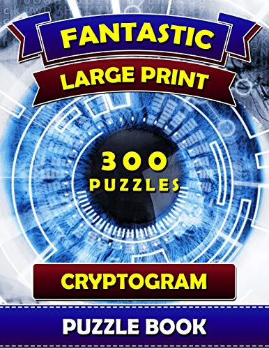 Pdf Humor Fantastic Large Print Cryptogram Puzzle Books (300 Puzzles): Cryptoquip Books for Adults. Cryptoquote Puzzle Books for Adults.