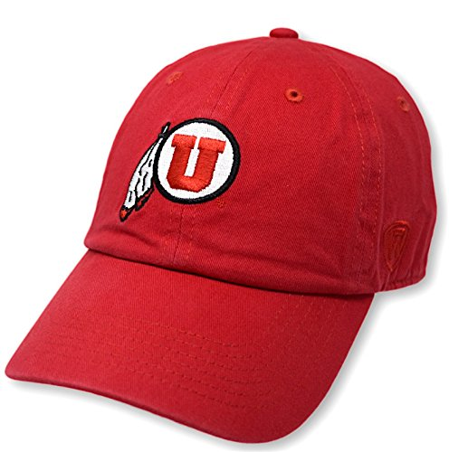(Top of the World NCAA Utah Utes Men's Adjustable Hat Relaxed Fit Team Icon, Red)