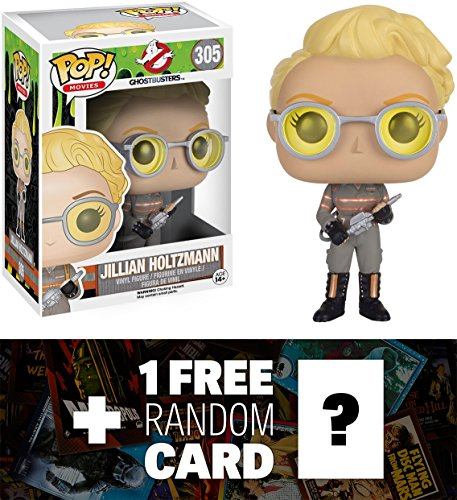 Jillian Holtzmann: Funko POP! x Ghostbusters Vinyl Figure + 1 FREE Sci-fi & Horror Movies Trading Card Bundle (076252)