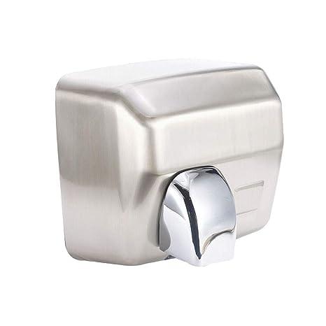 GCHOME Secadores de Mano Secador de Manos, Inodoro de baño automático de inducción de Acero