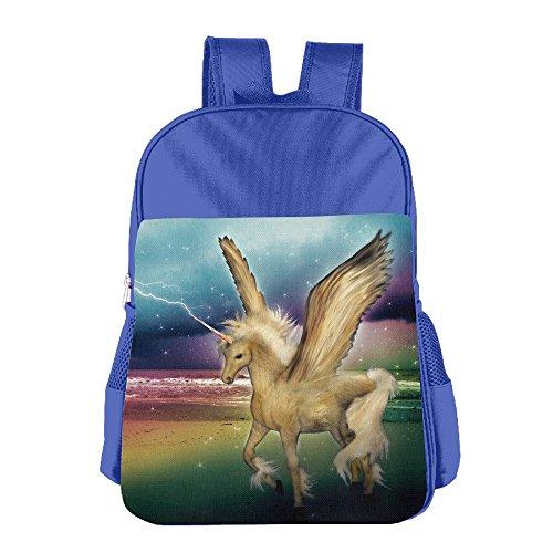 Unicorn Children's School Bag Backpack Cabssk Polyurethane Leather Customize RoyalBlue - Shopping University Center Park