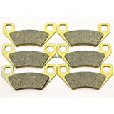 Master Chen Front Rear Brake Pads Brakes for Arctic Cat 650 500 700 1000 Thundercat FA395FR ATV MC0088-PAD
